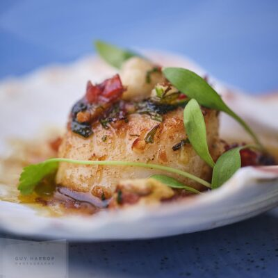 freshly cooked scallop photo © Guy Harrop 2021